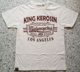 King Kerosin Regular T-Shirt offwhite / Retro Motorcycles