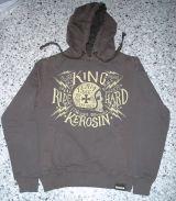 Used-Airbrush-Hoodie grau King Kerosin - Team 666