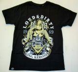 King Kerosin Regular T-Shirt / V8 Loud & Dirty - black