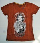 Watercolor-Shirt von King Kerosin Rostbraun / Tattoed Girl