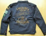 Vintage-Canvas-Jacket midnight blue - Mechanic Crew 1959