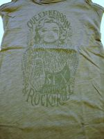 Longtop von Queen Kerosin - Tattooed Girl / grau