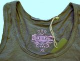 Longtop von Queen Kerosin - blanko / grau anthracite