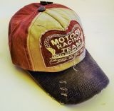 Vintage Trucker Cap - Motors Racing Team - rot/schwarz