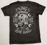 Batik Vintage Shirt dusty olive - Live Free Ride Hard / Limited Edtion