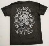 Batik Vintage Shirt dusty olive - Live Free Ride Hard / Limited Edtion