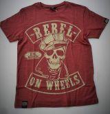 King Kerosin Slub Jersey T-Shirt - Rebel On Wheels-braun