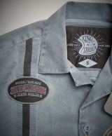 Dragstrip-Shirt Oilwash schwarz - Burning the Road / Limited Edition
