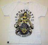 King Kerosin Regular T-Shirt offwithe / V8 Loud & Dirty