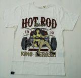 King Kerosin Regular T-Shirt offwhite / Hot Rod Shop 1955