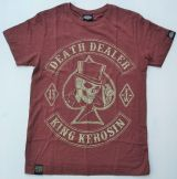 King Kerosin Slub Jersey T-Shirt - Death Dealer/braun