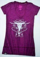 Queen Kerosin Batik Vintage Shirt / Be Free - Lila