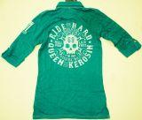 Batik Vintage Poloshirt von Queen Kerosin - Born for Speed grün