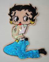 Patch - Betty Boop / blaue Hose