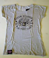 Loose-Shirt von Queen Kerosin - Cat Fight Club grau