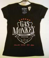 Gas Monkey Garage Frauen T-Shirt - Wrench Shield / schwarz