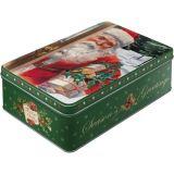 Blech Vorratsdose Flach - Santa Claus