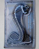 Emblem: Cobra / silber
