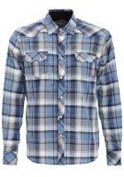 Karo Button Hemd - Blancko / Royal Blau