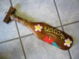 Classic Tiki Holz Paddel - Welcome / klein