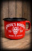 Emaille Tasse / Becher von Rumble59  - Devil`s Booze