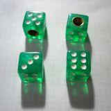 Ventilkappen - Würfel grün klar