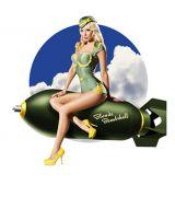 Pin up Sticker - Blonde Bombshell