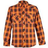 Karo Hemd mit Aramid Lining von King Kerosin - Speedshirt 2 Orange
