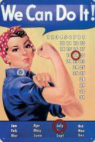 Nostalgie Blech Kalender - We can do it !