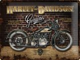 Blechschild Large - Harley Davidson Brick Wall