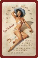 Nostalgie Blech Kalender - Pinup / Enjoy the Summer!