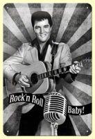 Blechschild mittel - Elvis Rock`n`Roll Baby