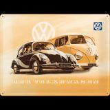 Blechschild Large - VW Beetle & Bulli
