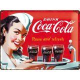 Blechschild Large - Coca Cola Waitress