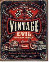 Retro Blechschild - Vintage Evil Hell Bent Rods