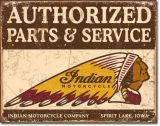 Retro Blechschild - Indian Motorcycles Parts and Service