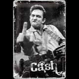 Blechschild mittel - Johnny Cash / Finger