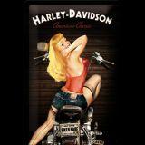 Blechschild mittel - Harley-Davidson Biker Babe