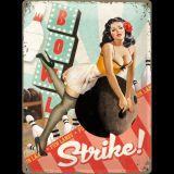 Blechschild Large - Pinup Girl / Strike