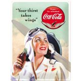 Blechschild Large - Coca Cola / Takes Wings Lady