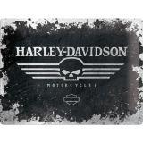 Blechschild Large - Harley Davidson / Skull Logo