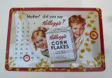 Nostalgie Blech Kalender - Kellogg`s