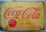 Blechschild mittel - Coca Cola Logo gelb