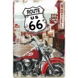 Blechschild mittel - Route 66 Lone Rider
