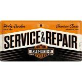 USA Retro Blechschild Lang - Harley Davidson / Service & Repair