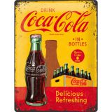 Blechschild Large - Coca Cola / In Bottles Yellow