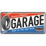 USA Retro Blechschild Lang - Garage