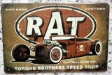 Retro Blechschild - Rat Rod