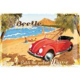 Blechschild mittel - VW Beetle / Ready for the Beach