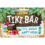 Blechschild mittel - Tiki Bar
